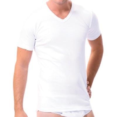 Camiseta Caballero Manga Corta Cuello Pico